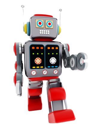 Vintage Toy Red Robot